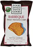 Food Should Taste Good Kettle Cooked BBQ Chips, Sweet Pot, 4.5 Ounce