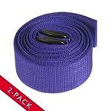 2pk Effortless 9ft Adjustable Yoga Stretching Strap (Purple)