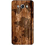 AMAN World Map On Wood 3D Back Cover For Samsung Galaxy J7 2016