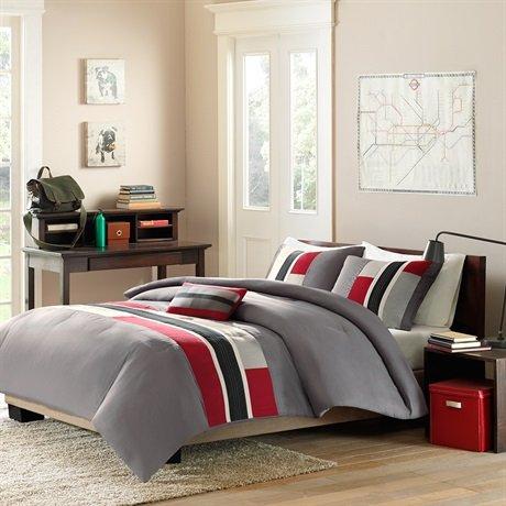 Mizone Pipeline Comforter Set - Red - Twin/Txl front-914065
