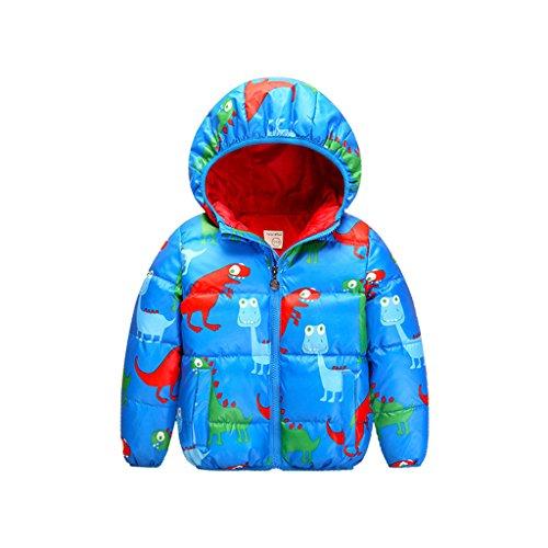 Piumino Bambino Invernale Giacca Impermeabile Piumino Cappuccio Cappotto Snowsuit per Bambini 1-6 anni Vine
