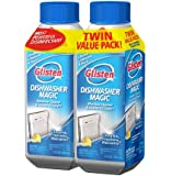 Glisten DM06T Dishwasher Magic Cleaner 2 Pack-Two 12 Ounce Bottles-EPA Registered Cleanser Eliminates 99.9% of E-coli and Salmonella