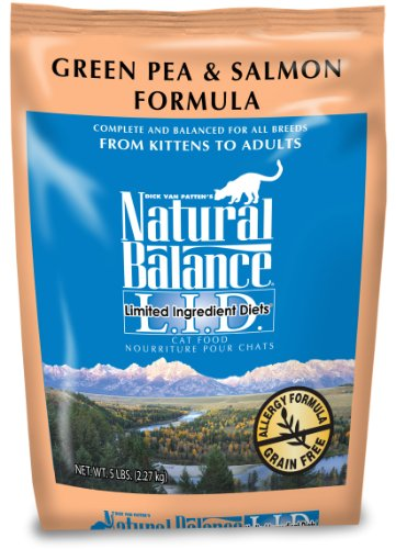 Image of Natural Balance Green Pea and Salmon Formula Cat Food, 5-Pound Bag