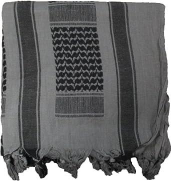 Grey Military Shemagh Arab Tactical Desert Keffiyeh Scarf