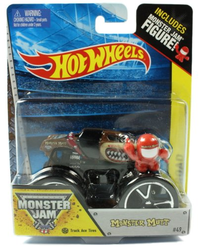 Hot Wheels Monster Jam Monster Mutt Trace Ace Tires #49 Includes Monster Jam Figure Off-road