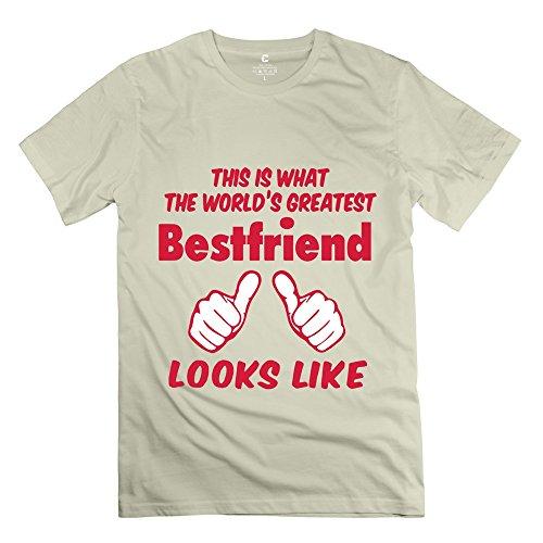 Laur Men'S What Worlds Greatest Bestfriend Looks T-Shirt - S Natural