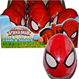 Marvel Spiderman Easter Eggs with Stickers and Candy 12 Eggs