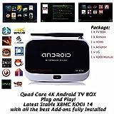 KUKELE@ Rk3288 CS918 Plus XBMC Kodi Helix 14 Addons Fully Loaded 2GB RAM 8GB ROM Cortex A17 Quad Core 4k Google Android 4.4 Kitkat IPTV Tv Box Internet Streaming Media Player & Showbox Mobdro HD-Cinema Pre-Installed & XBMC Kodi Manual