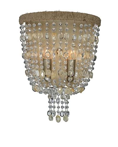 Gold Coast Lighting Eva 2-Light Wall Sconce, Burnished Silver