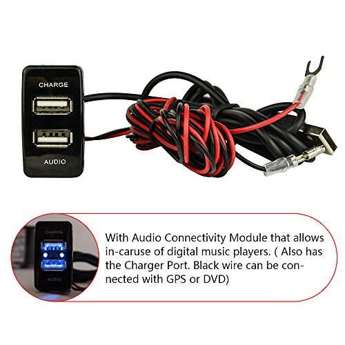 mictuning-toyota-audio-adapter-and-usb-charger-66ft-power-wire-39ft-audio-wire-and-12a-1-port-usb-so