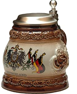 Beer Stein by King - Deutschland (Germany) Coat of Arms German Beer Stein 0.5l