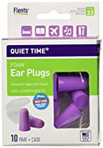 Flents Quiet Time Foam Ear Plugs, 20 Count