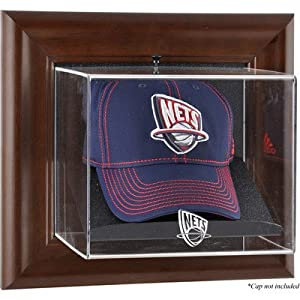 NBA Wall Mounted Cap Display Case Frame Finish: Brown, NBA Team: New Jersey Nets by Mounted Memories
