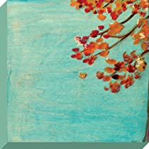 Oopsy Daisy Fall Leaves Stretched Canvas Wall Art by Marisa Haedike 12 by 12-Inch