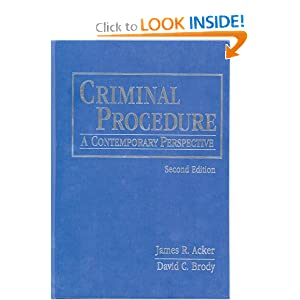 Criminal Procedure: Contemporary Perspectives  by James R. Acker