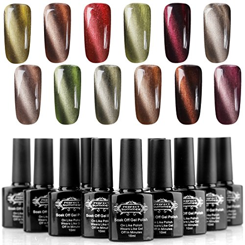 Perfect-Summer-Magnetic-Colors-Gel-Nail-Polishes-Creative-3D-Cat-Eye-Effect-Mood-Changing-10ml-12PCS-French-Starter-Kits