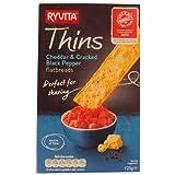 Ryvita Cheddar & Cracked Black Pepper Thins 125g
