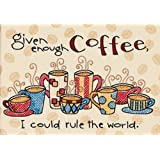 "Enough Coffee Mini Stamped Cross Stitch Kit-7""X5"""