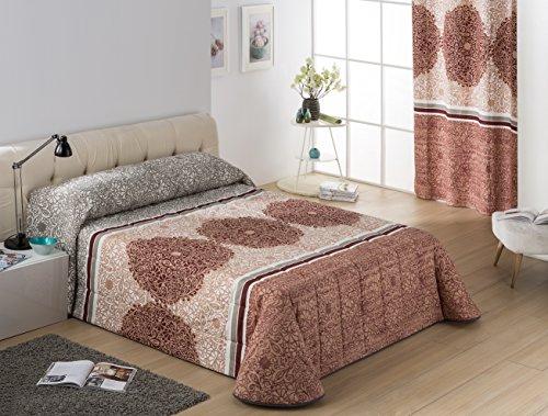 Colcha bouti NEPAL para cama 135cm,color lila