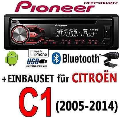 Citroen c1-pioneer dEH - 4800BT-cD/mP3/uSB avec kit de montage