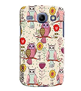 Omnam Cartoon Owl Pattern Printed Designer Back Cover Case For Samsung Galaxy Core i8262