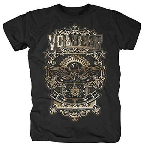 T-Shirt con Volbeat mylani - Old febbricitante nero Small