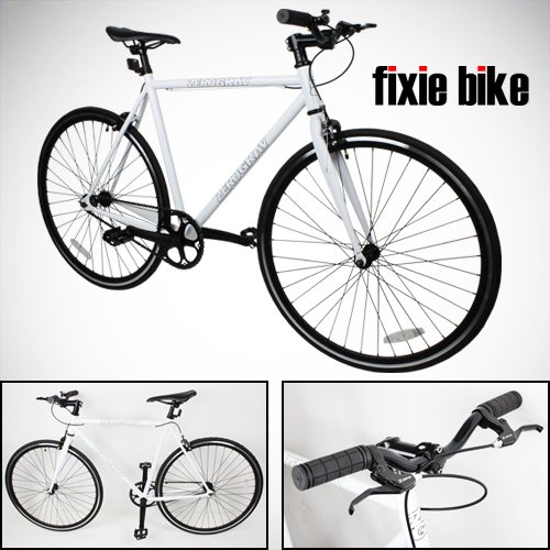 Check Out This NEW 54cm White Fixed Gear Bike Single Speed Riser Bar Fixie Road Bike Track Bicycle