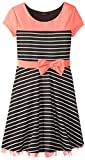 ZUNIE Girls 7-16 Striped Ponte Dress
