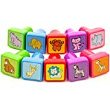 InkZoo Stamps for Kids - Best Rubber Self Inking Animal Stamp Set - Lifetime Guarantee