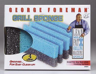 Pk/3 x 4: George Foreman Grill Sponge (GFSP3) (George Foreman Iii compare prices)