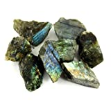 "Crystal Allies Materials - 1lb Wholesale Rough Labradorite Stones from Madagascar - Large 1""+ Raw Natural Crystals for Cabbing, Cutting, Lapidary, Tumbling, and Polishing & Reiki Crystal Healing *Wholesale Lot*"