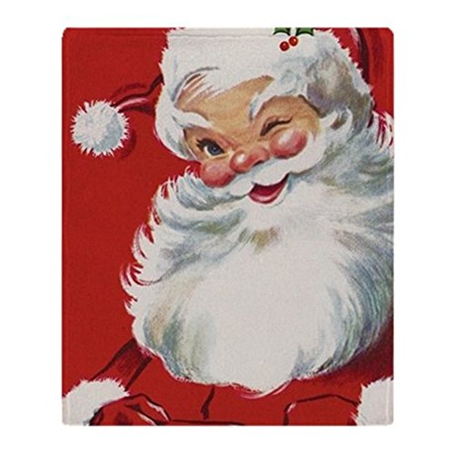 CafePress - Vintage Christmas Jolly Santa Claus - Soft Fleece Throw Blanket