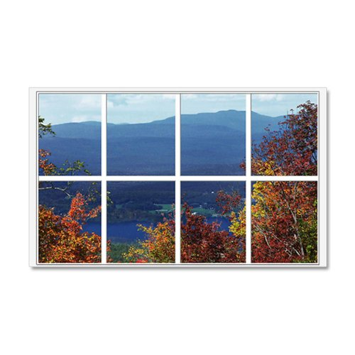 Mountain View Window A faux window 22×14 Wall Peel 20×12 Wall Decal by CafePress