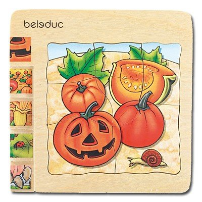 Picture of Fun Beleduc Pumpkin 5 Layer Wood Puzzle (B003FH2Z8A) (Pegged Puzzles)