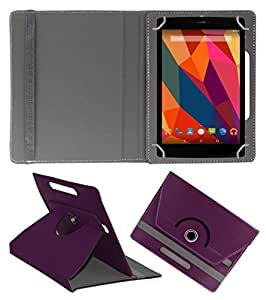 KOKO ROTATING 360° LEATHER FLIP CASE FOR Zync Z99 2G TABLET STAND COVER HOLDER PURPLE