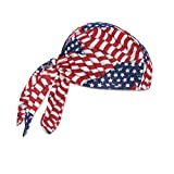Ergodyne Chill-Its® 6615 High-Performance Dew Rag, Stars and Stripes