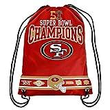 2015 NFL Team Logo Super Bowl Commerative Drawstring Backpack – Pick Team (San Francisco 49ers)