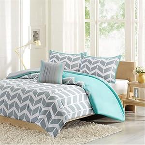 Intelligent Design Nadia Comforter And Decorative Pillow Set - Teal - Full/Queen