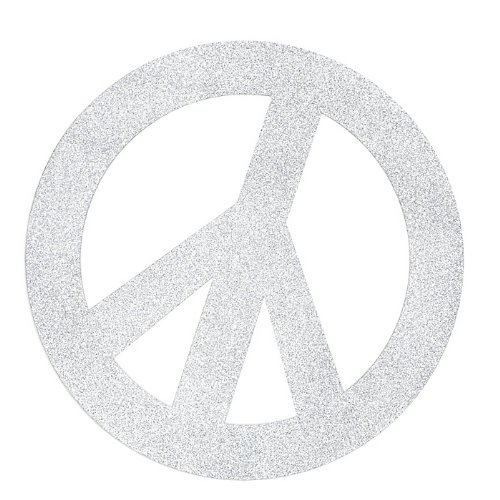 Peace Symbol Cutouts Silver Package of 6 - 1