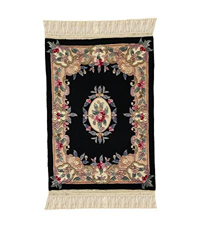 ZZ-L'Eden del Tappeto Teppich Ar 3/8 schwarz/mehrfarbig 77 x 108 cm