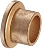 "Bunting Bearings EXEF081008 Extra Lubricant with PTFE, Flange Bearing, Powdered Metal, SAE 841 1/2 "" Bore x 5/8 "" OD x 1/2 "" Length 7/8 "" Flange OD x 1/8 "" Flange Thickness (3 Pack)"