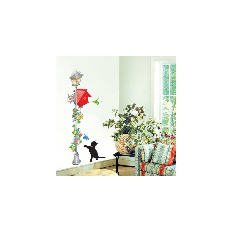 Jiniy CAT & POSTBOX WALL ART DECOR Mural Decal STICKER(KR0012)