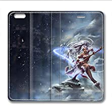 buy Iphone 6 6S Plus Leather Case Pu Material Hard Shell Flip Credit Card Holder Magnetic Stand Video Game Logo Poster Pattern Character Screen Adventure Fighting-League Of Legends Nidalee