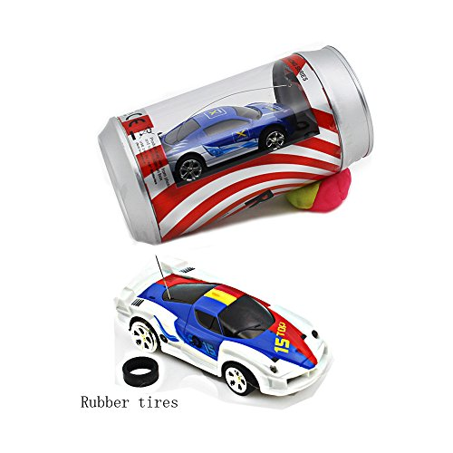 Speed Mini Coke Racer RC Radio Remote Controlled Micro Racing Car With LED Lingts Toys Kids Gift, Color by Random ,27MHz (Cars Micro Racers compare prices)