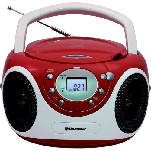 Roadstar CDR-4230MP/RD tragbares Radio mit CD/MP3 ROT