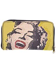 Dash Of Bling Monroe Black And Yellow Women's Wallet