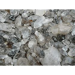 Fantasia Materials: 1 lb RARE Tibetan Quartz - Unique Formations - Raw Natural Crystals for Cabbing, Cutting, Lapidary, Tumbling, Polishing, Wire Wrapping, Wicca and Reiki Crystal Healing