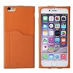 iPhone6 Plus ケース カバー 本革 レザー Slin Line カード収納 / バータイプ / ブラウン