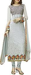VIDA Women's Georgette Salwar Suit Material (Grey)