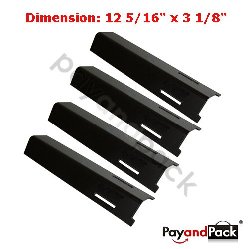 92611 (4-Pack) Gas Grill Replacement Parts Porcelain Steel Heat Plate For BBQ Grillware, Uniflame, Lowes Model Grills